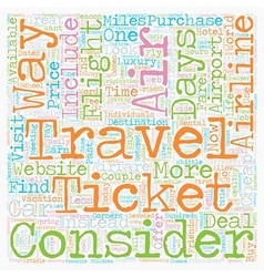 How to find cheap airfare text background vector