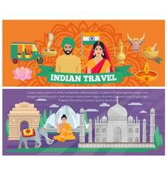 Indian travel banners vector