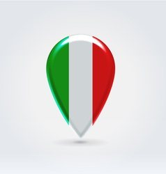 Italian icon point for map vector image