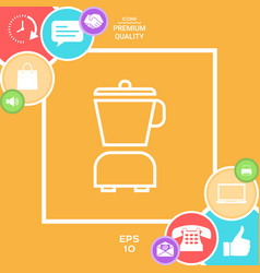 kitchen blender linear icon vector image vector image
