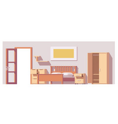 low poly bedroom vector image