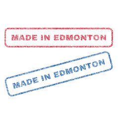 Made in edmonton textile stamps vector