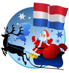 Merry Christmas Netherlands vector image vector image