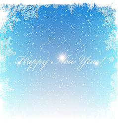 New year postcard frosty frame isolated center vector
