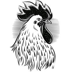 Rooster head vector