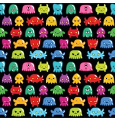Seamless monsters pattern vector