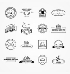 set of bakery logos vector image vector image