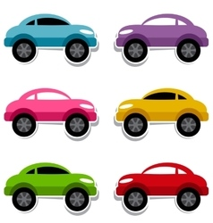 Set of colorful cars vector image