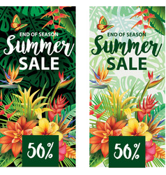 summer sale banners design vector image