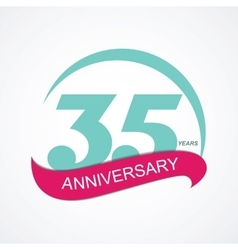 Template logo 35 anniversary vector