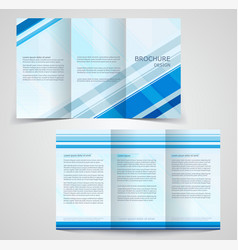 Tri-fold business brochure template two-sided vector
