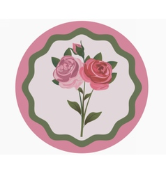 Vintage Rose Flowers bouquet vector image vector image