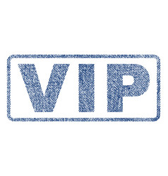Vip textile stamp vector