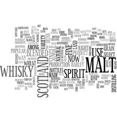 Whisky text word cloud concept vector