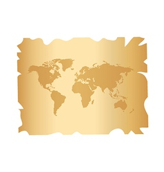 World on paper vector image vector image
