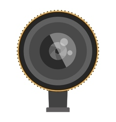 Photo optic lenses icon vector