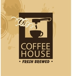 coffee machine and a cup vector image