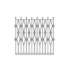 Geometric grid fencing design vector