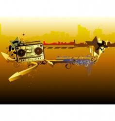 urban music frame vector image