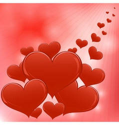 Red hearts valentine day background vector