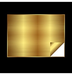 Golden gradient background vector