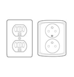US to EU socket vector image
