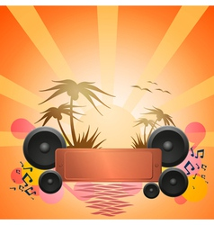 Disco dance tropical music flyer vector
