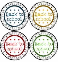 back to school stamps vector image