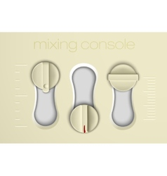 Mixing console faders vector