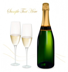 shampagne with glasses vector image