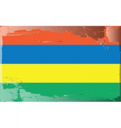 Mauritius national flag vector