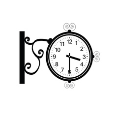 Clock antique beauty black vector