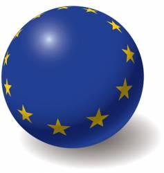 European union flag on ball vector image
