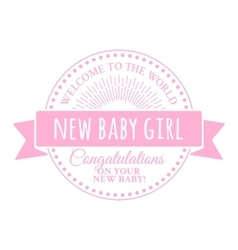 Badge for the newborn vector