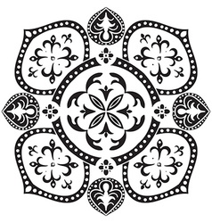 Hand drawing decorative tile pattern italian vector