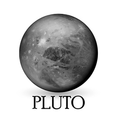Planet pluto white background vector