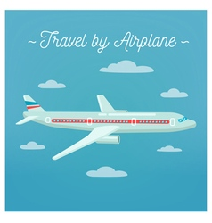 Travel banner tourism industry airplane vector