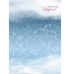 Abstract Winter Snowfall Background vector image vector image