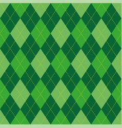 Argyle pattern green rhombus seamless texture vector