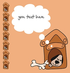Baby card with a dog for text vector