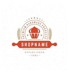 Bakery shop logo design element vector