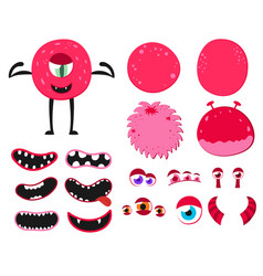 Cartoon funny monsters creation kit create your vector