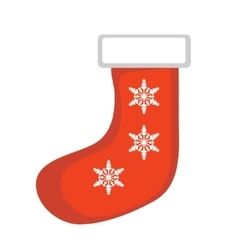 Christmas sock icon isolated on white vector