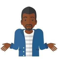 Confused man shrugging his shoulders vector image vector image