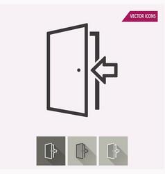 door - icon vector image vector image