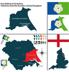 East riding of yorkshire yorkshire and the humber vector