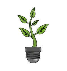 Eco energy symbol vector