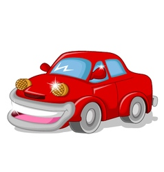 funny red car for you design vector image