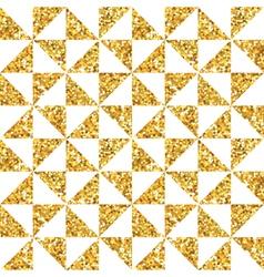 Golden geometry glitter background vector