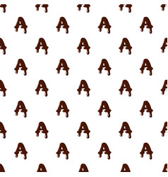 Letter a from latin alphabet made of chocolate vector